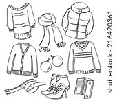 clothing and accessories | Shutterstock .eps vector #216420361