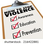 how to stop violence words on a ... | Shutterstock . vector #216422881