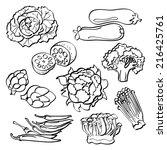 vegetables set | Shutterstock .eps vector #216425761