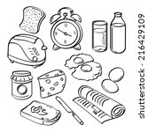 breakfast collection | Shutterstock .eps vector #216429109