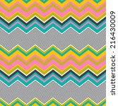 seamless wave pattern | Shutterstock .eps vector #216430009