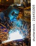 industrial steel welder in... | Shutterstock . vector #216431005