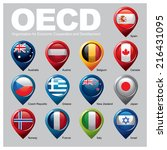 oecd members countries   part... | Shutterstock .eps vector #216431095