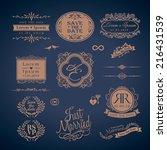 vintage style wedding monogram... | Shutterstock .eps vector #216431539