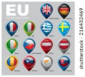 members of the european union   ... | Shutterstock .eps vector #216432469
