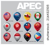 members of the apec   part two | Shutterstock .eps vector #216432505