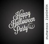 halloween party vintage...   Shutterstock .eps vector #216434554