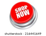 shop now push button isolated... | Shutterstock . vector #216441649