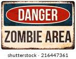 halloween warning sign. danger  ... | Shutterstock .eps vector #216447361