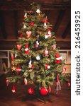 christmas tree and christmas... | Shutterstock . vector #216453925