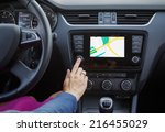 Woman Using Navigation System...