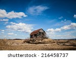 Old Abandoned Rusty Old Barn In ...