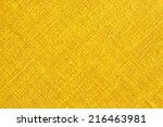 Yellow Textile Background. ...