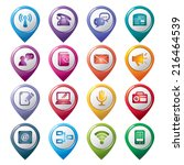 communication pointer icons | Shutterstock .eps vector #216464539