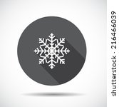 christmas  flat icon with long... | Shutterstock .eps vector #216466039