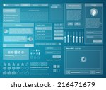 set frame web ui elemants white ... | Shutterstock .eps vector #216471679