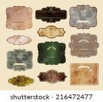 Set Of Vintage Labels  Vector...