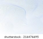abstract wavy grid background.... | Shutterstock .eps vector #216476695