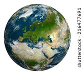 planet earth with clouds....   Shutterstock . vector #216477691