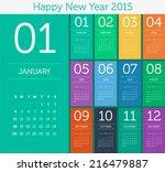 Calendar 2015   Flat Design...