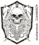 warrior emblem | Shutterstock .eps vector #216480829
