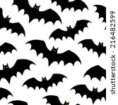 seamless background with bats.... | Shutterstock .eps vector #216482599
