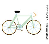 green bike isolated   Shutterstock . vector #216482611
