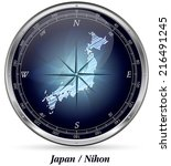 map of japan with borders in...   Shutterstock . vector #216491245