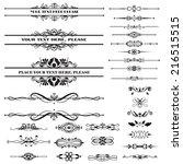 vector illustration of a set of ... | Shutterstock .eps vector #216515515