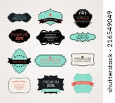 vintage frames vector  eps 10... | Shutterstock .eps vector #216549049