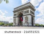 paris  france   july 14  2014 ... | Shutterstock . vector #216551521