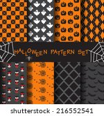 8 different halloween vector... | Shutterstock .eps vector #216552541