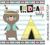 indian teddy bear vector... | Shutterstock .eps vector #216557119