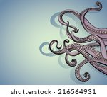 vector drawing of tentacles...