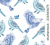 bird  winter  pattern | Shutterstock .eps vector #216565675
