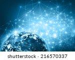 best internet concept of global ... | Shutterstock . vector #216570337