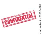 confidential rubber stamp effect | Shutterstock .eps vector #216584287