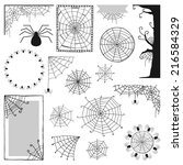 set of decorative elements for... | Shutterstock .eps vector #216584329