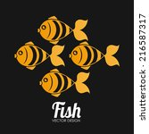 fish design over black... | Shutterstock .eps vector #216587317