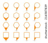 orange map pin icon location... | Shutterstock .eps vector #216587839
