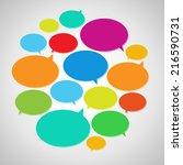 vector speech bubbles | Shutterstock .eps vector #216590731