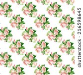 flower pink rose  pattern | Shutterstock . vector #216598645