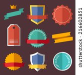Vintage, retro flat badges, labels | Shutterstock vector #216602851