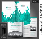 white vector brochure template... | Shutterstock .eps vector #216606421