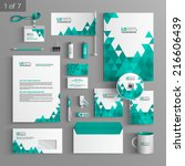 white stationery template... | Shutterstock .eps vector #216606439