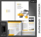 white vector brochure template... | Shutterstock .eps vector #216606634