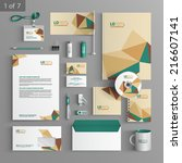 vector stationery template... | Shutterstock .eps vector #216607141