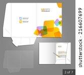 white folder template design... | Shutterstock .eps vector #216607699