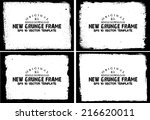 design template.abstract grunge ... | Shutterstock .eps vector #216620011
