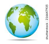highly detailed world map.... | Shutterstock .eps vector #216647935